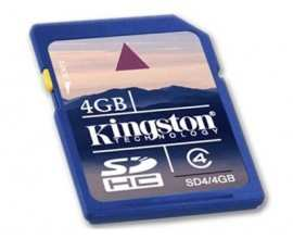 KINGSTON Memory ( flash cards ) 4GB SD Card High Capacity