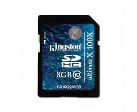 KINGSTON Memory ( flash cards ) 8GB SD Card High Capacity Class 10, Plastic