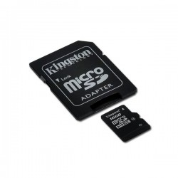 KINGSTON Memory ( flash cards ) 16GB microSDHC Micro SDHC Class 4 with SD adapter