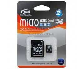 TEAM GROUP Memory ( flash cards ) 32GB Micro SDHC Class 4 with adapter minicase