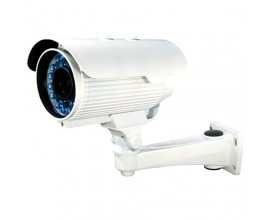 Camera color de exterior, 1/3 Sony EXview HAD CCD II,  High-Sensitivity Sony Enhanced Effio-E (673BK) 700TVL, KM-77IRF