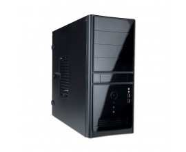 Chassis IN WIN EC021 Midi Tower, ATX, 7 slots, USB2.0, Microphone-In, Headphones, Steel 0.5 mm, PSU 450W, Black