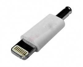Adaptor mufa, compatibil iPhone 5 tata - jack curent continuu tata 0.9x3.4x9 mm