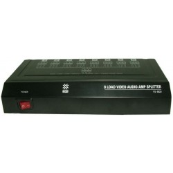 Distribuitor audio/video cu amplificare, 8 canale-YS-800