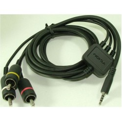 Cablu audio-video, Nokia jack 3.5 mm, tata - 3 x RCA