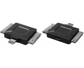 Mufa adaptoare micro USB mama - 2xcompatibil iPhone3/4 tata compatibil iPhone5 tata